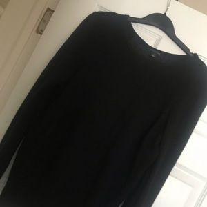 Ann Taylor black top with silk back